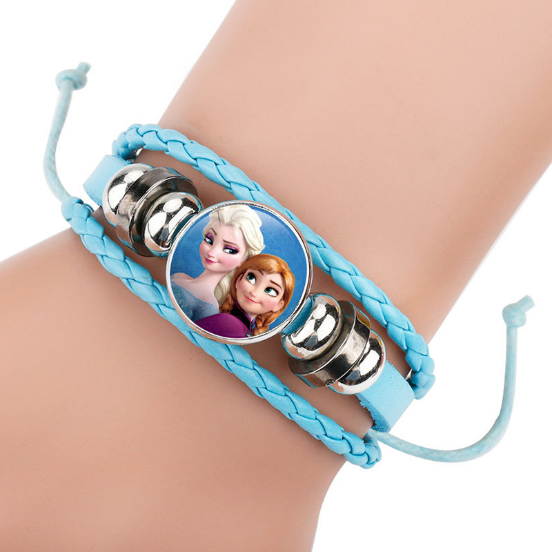 Princess Girl Cartoon Bracelet Lovely Wrist Children Girl Gift Beading Toys Clothing Accessories Bangle Kid Make Up Jewelry