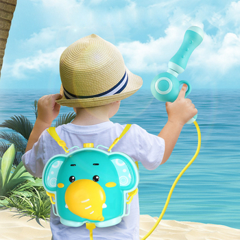 Elefante pollito, juguete de verano de dibujos animados, pistola de agua para niño y niña, mochila de presión, pistolas de agua para jugar en el agua, juguetes de playa al aire libre para niños