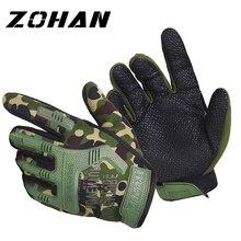 ZOHAN Зимние перчатки для охоты, тактические военные зимние охотничьи перчатки, мужские тактические перчатки на кастете, на открытом воздухе, с сенсорным экраном, для стрельбы на велосипеде