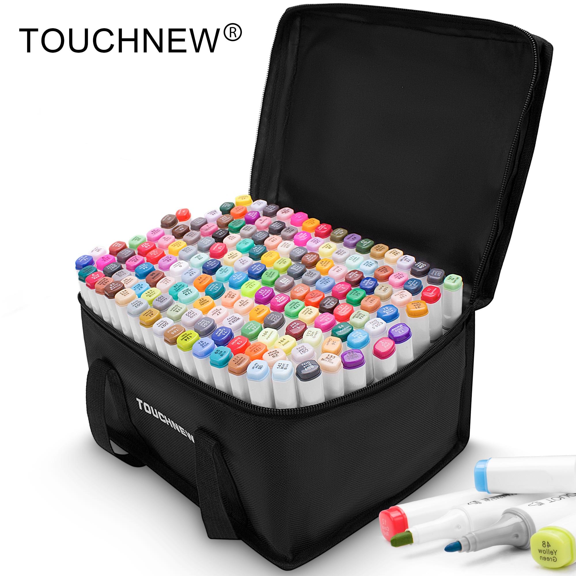profissao marcadores de arte touchnew marcador conjunto 30 40 60 80 168 conjunto duplo cabeca marcador