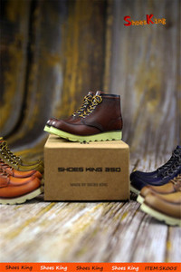 Image 3 - 1/6 Scale SK005 Mens Retro High top Locomotive Shoes Male Figure Boots Model with Feet for 12 Body