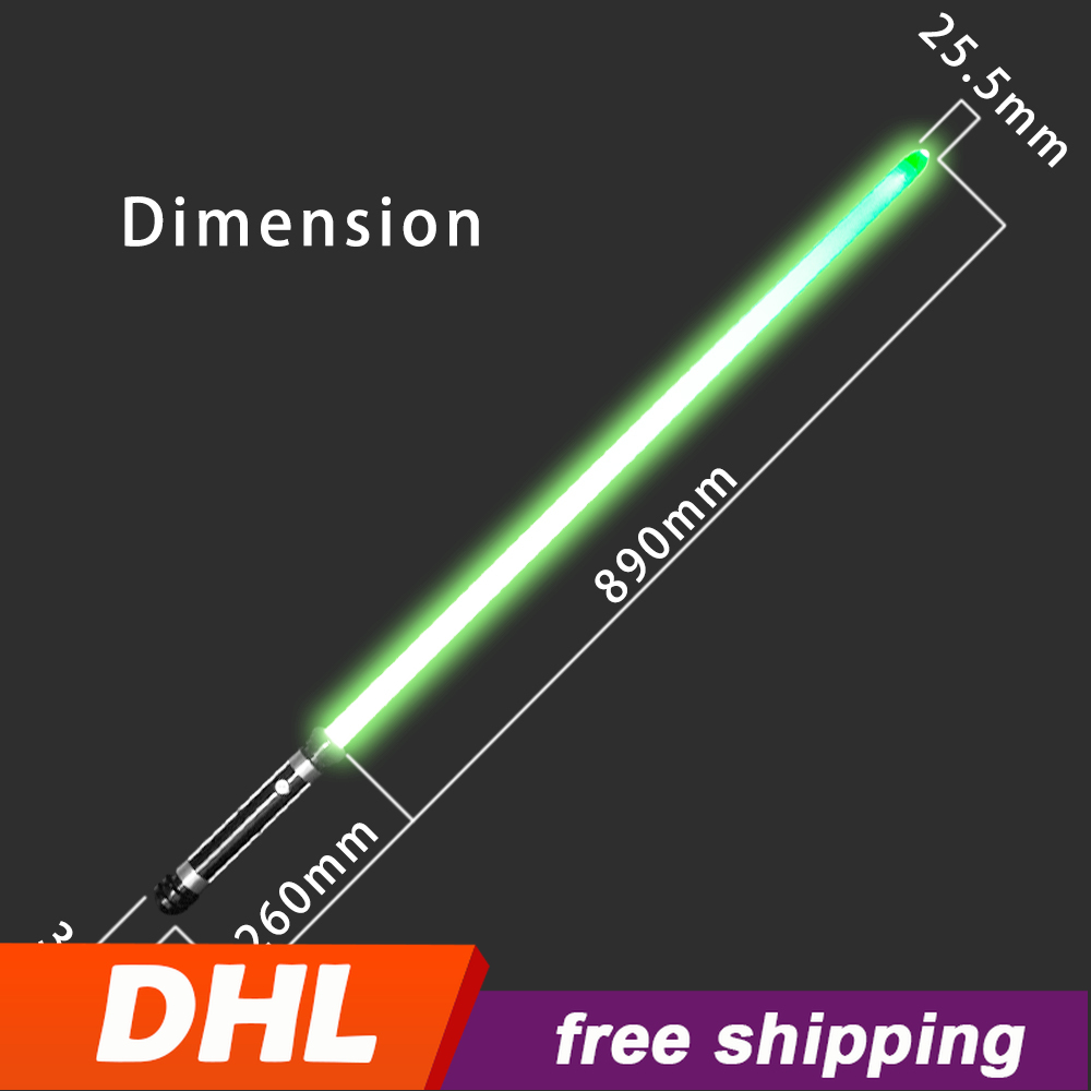 Lumious Kirito Lightsaber Toy 115cm RGB Force FX Heavy Dueling Color Changing Metal Handle Sound FOC Light Saber Stick Sword