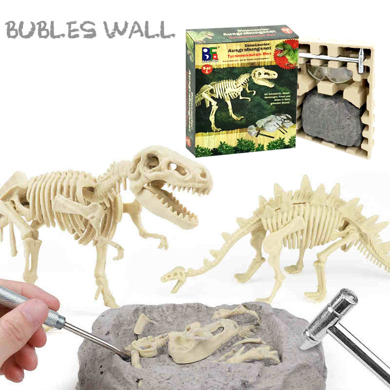Educational Dinosaur Fossil Excavation Toys Archaeological Dig Toy DIY Assembly Model Toys for Children Kids Gifts Toy Dinosaur(China)