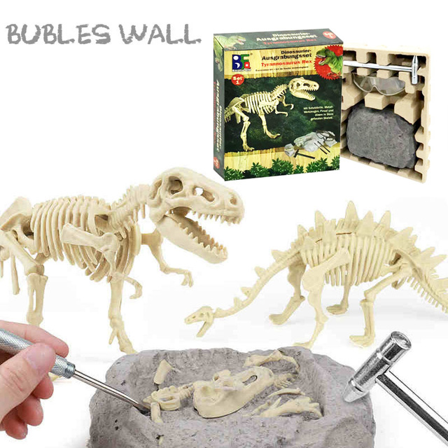 $ US $4.64 Educational Dinosaur Fossil Excavation Toys Archaeological Dig Toy DIY Assembly Model Toys for Children Kids Gifts Toy Dinosaur