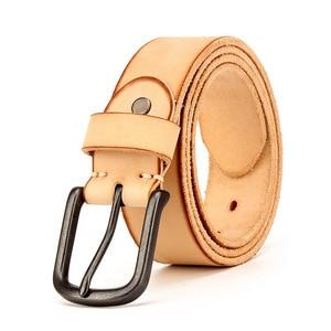 Image 4 - Top Cow genuine leather belts for men jeans Do old rusty black buckle retro vintage mens male cowboy belt ceinture homme