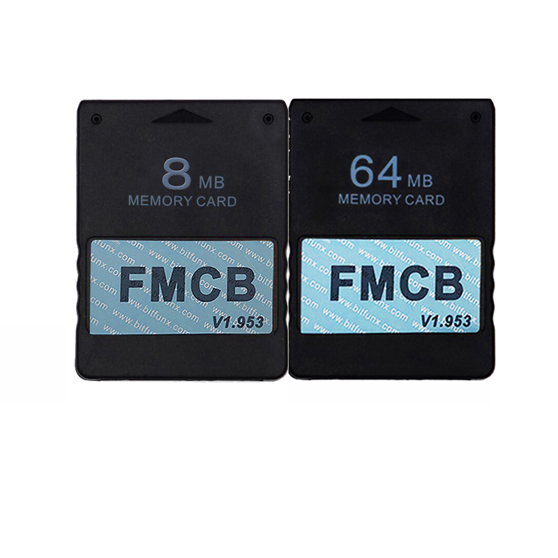 1.953 8MB Memory Card and 64MB Memory Card for <font><b>Sony</b></font> <font><b>Playstation</b></font> <font><b>2</b></font>, FMCB Memory Card for <font><b>PS2</b></font> image