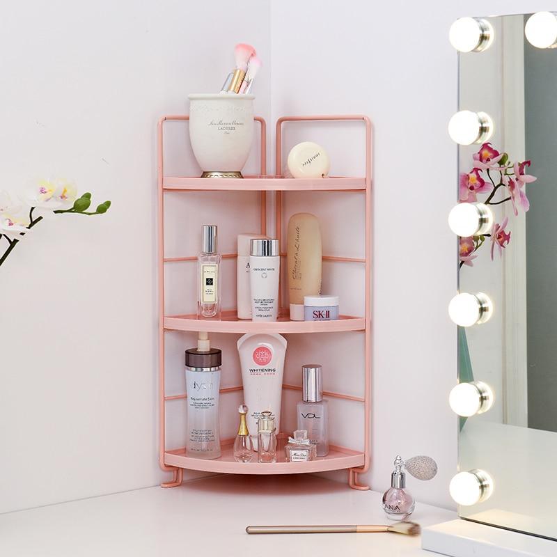 Bathroom Floor Standing Bathroom Storage Shelf Iron Shower Corner Shelf Plants Sundries Storage Racks For Kichen Pf92999