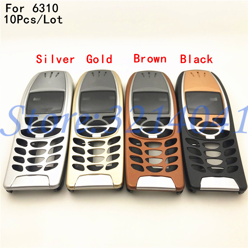 10Pcs For <font><b>Nokia</b></font> <font><b>6310</b></font> Cover Case Housing 6310i Battery Door Middle Frame Front Bezel Replace Part NO Phone Keyboard Keypad +Logo image