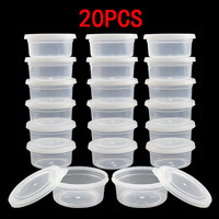 20 Pc Slime Storage Containers Foam Ball Storage Cups Containers With Lids Small Property Package Organizers Home Supplies Storage Boxes & Bins     -