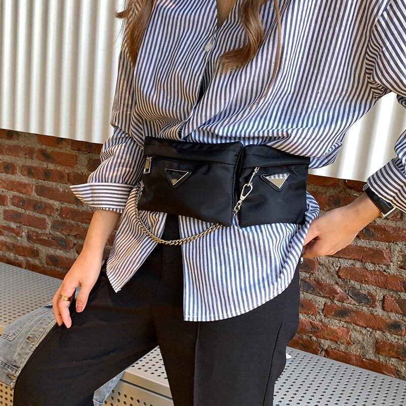 2019 Women's Bag On A Belt Bags Fanny Pack Purse Is Female Black Waist Bag For Women Pouch Phone Bag Designer Holiday Bag Csual