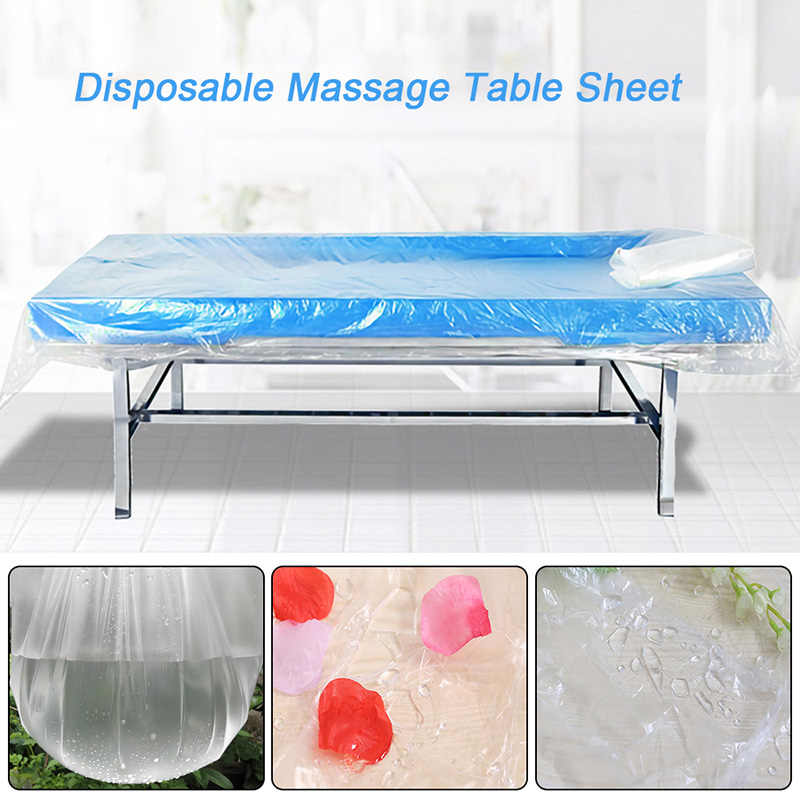 100Pcs Disposable Bedspread SPA Massage Table Sheets Waterproof Bed Film