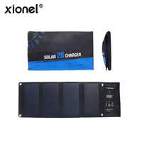 Xionel 3 USB Ports 28W 5V Foldable Waterproof Outdoor Fast Charging Solar Charger With SunPower Solar Panel