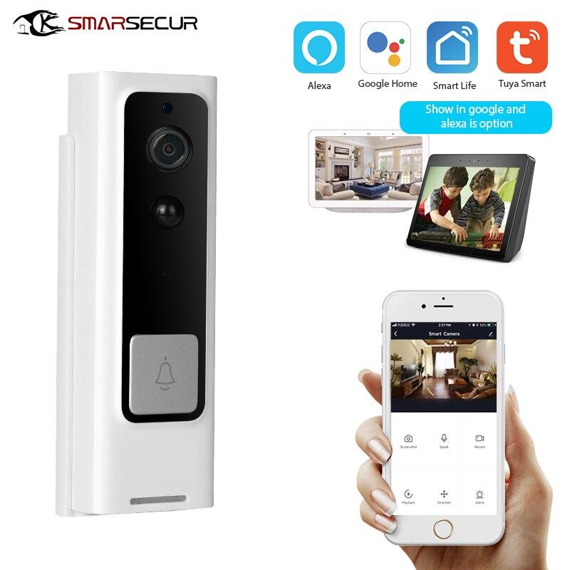 1080P Tuya Smart Wifi Doorbell Camera Ring Door Bell App Intercom Motion Detector Night Vision Security Camera