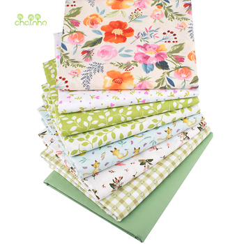 Floral Series,Printed Twill Cotton Fabric,Patchwork Cloth For DIY Quilting Sewing Baby&Child's Material,40x50cm 45x45cm thin soft cotton twill printed fabric diy sewing patchwork table cloth check fabric high quality cotton fabric cloth