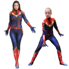 Superhero Vrouwen Movie Captain Marvel Panty Cosplay Kostuums Volwassen Kinderen Jumpsuits Halloween Party Girl Kleding Gift(China)