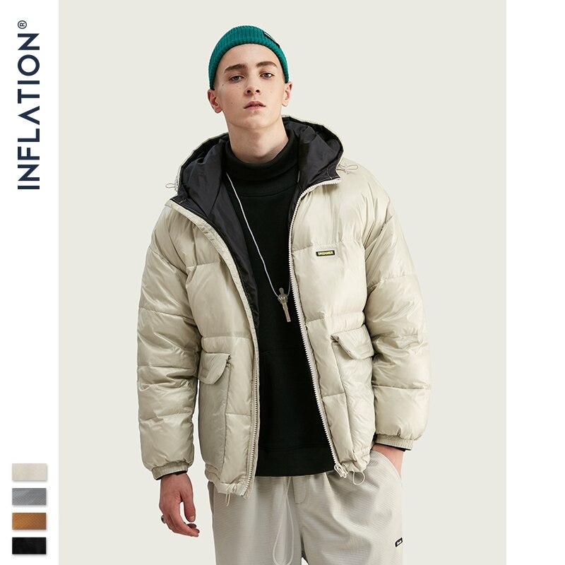 INFLATION Men Down Jacket Men Winter Portability Warm 70% White Duck Down Hooded Man Coat Jaqueta Masculino Chaqueta Hombre9724W