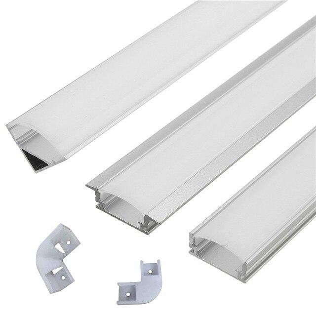 30/45/50cm U V YW Aluminium Channel Holder Corner Connector for LED Strip Light Bar Under Cabinet Lamp Kitchen 1.8cm Wide