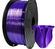 Filamento para impressora 3d semelhante a seda, 1.75mm 0.1kg/1kg material de textura semelhante a seda consumíveis roxo do material do fio