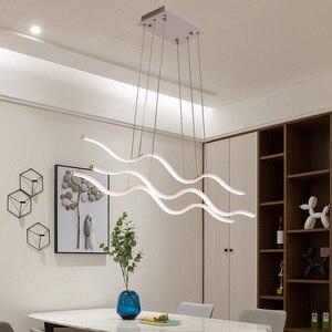 Image 4 - מינימליסטי מודרני LED תליון אורות חדר אוכל סלון תליית Hanglampen השעיה תליון מנורת מתקן משלוח דואר