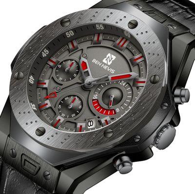Ben Nevis Men Watches Top Brand Luxury Quartz Leather Watch Men Military Sports Date Analog Watch For Men Relogio Masculino|Quartz Watches| |  - title=