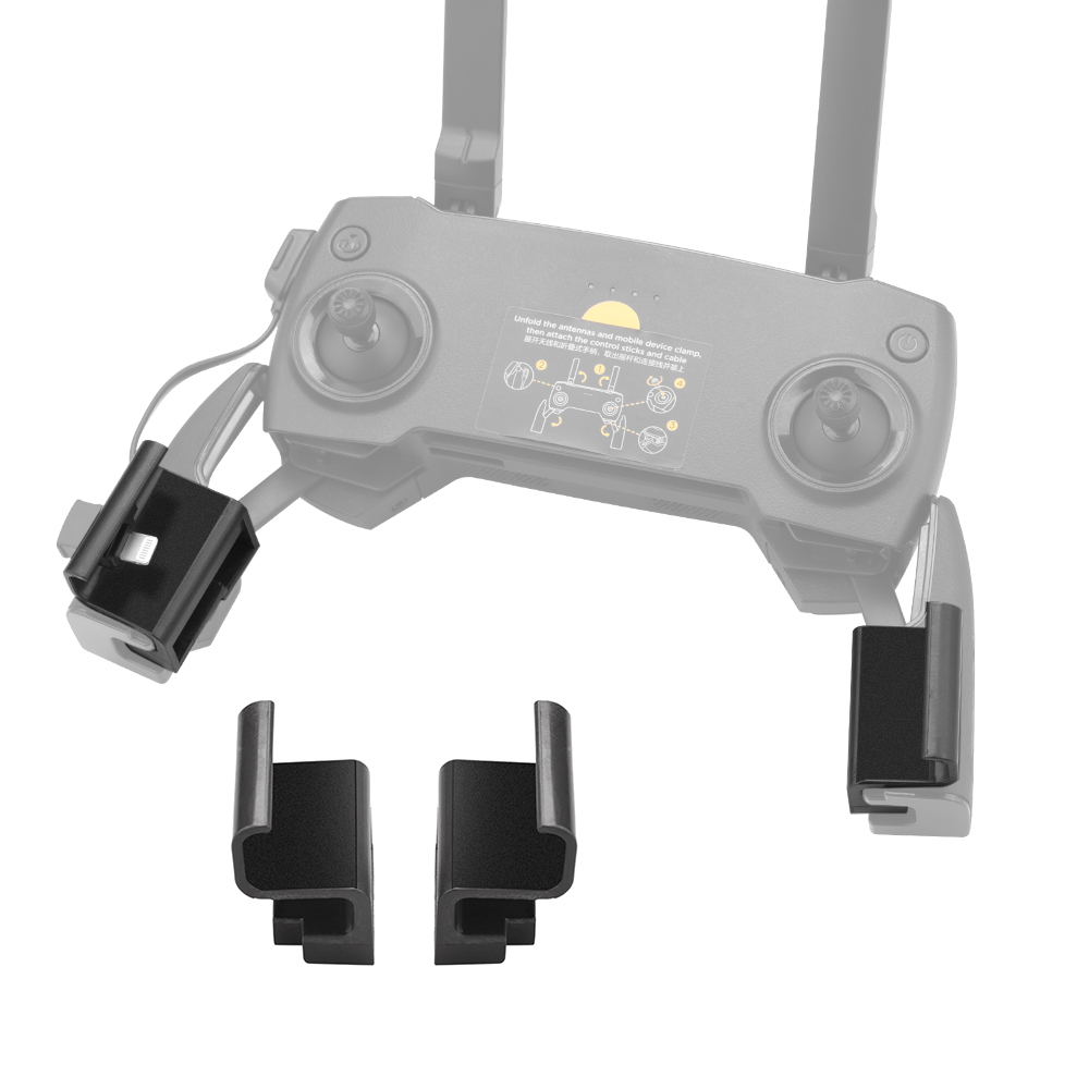 For DJI Mavic 2 Mavic Mini/Pro/Air Spark Remote Accessory Remote Control Mount Extended Clip Install Bracket Stable Phone Holder