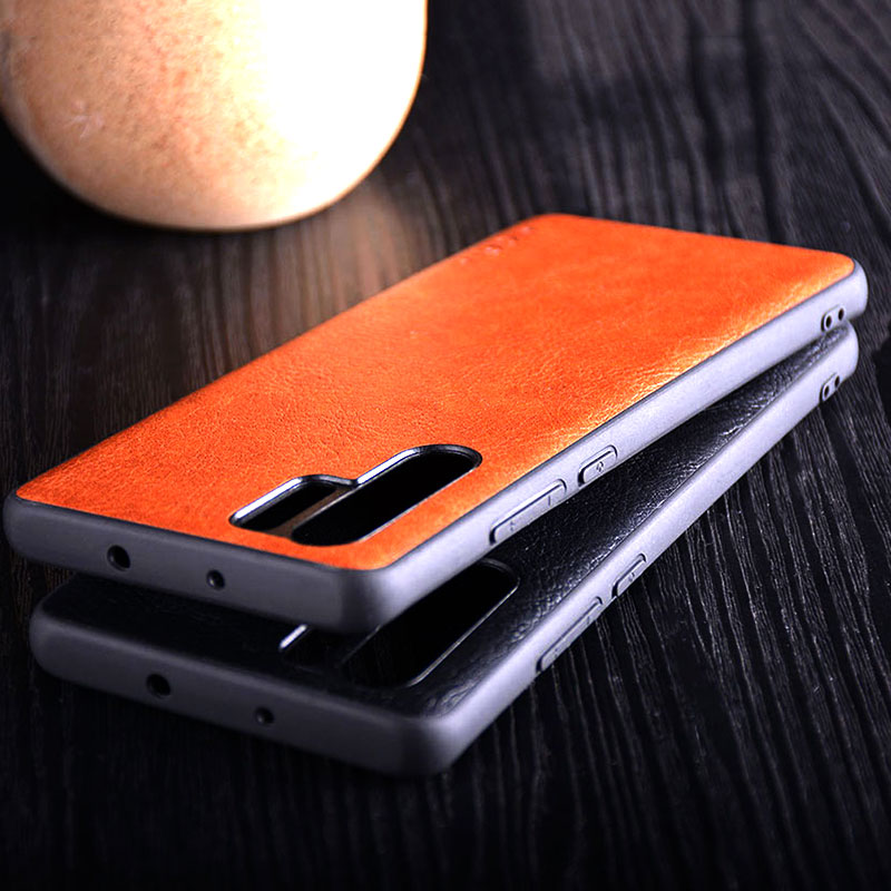 Image 5 - Case for huawei p30 lite pro funda luxury Vintage Leather skin with TPU + PC  hard cover for huawei p30 lite pro case coque capa