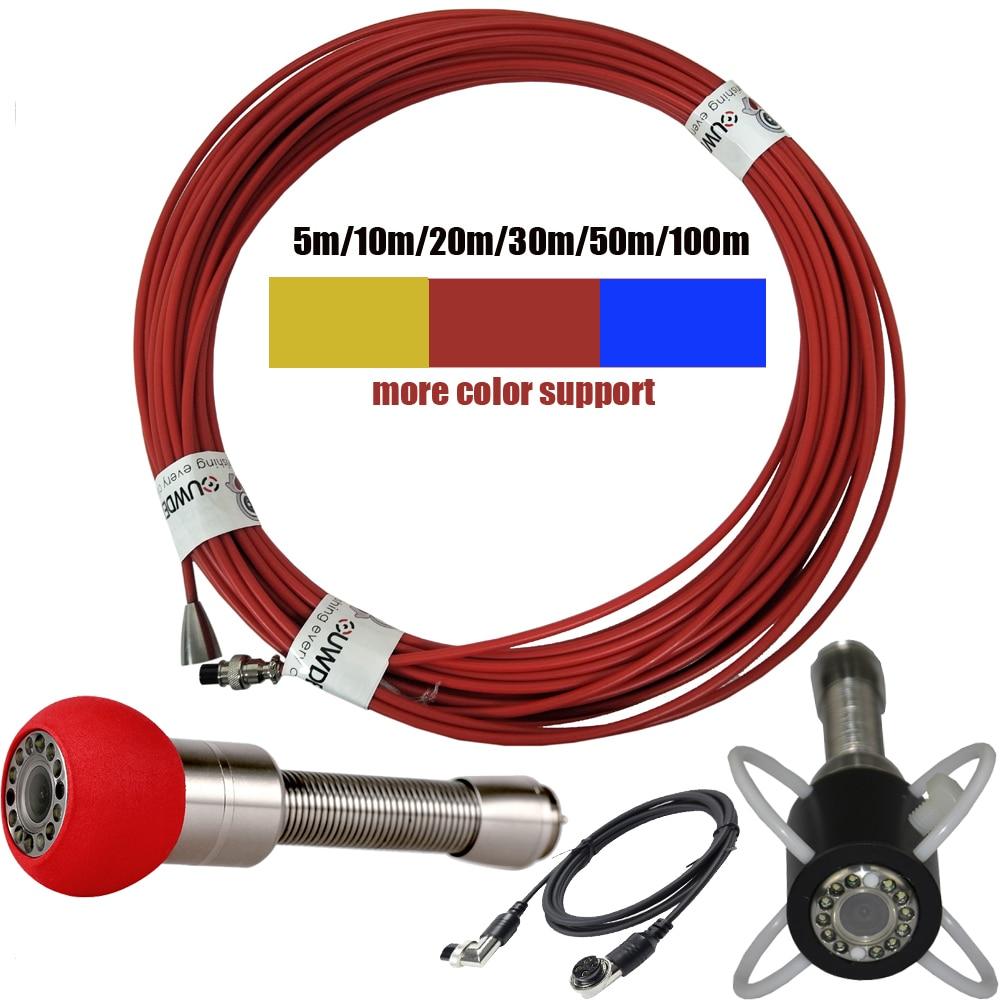 20 50 50 м кабель 5,5 мм Труба инспекции видео камера, канализационный трубопровод промышленный эндоскоп системы кабели