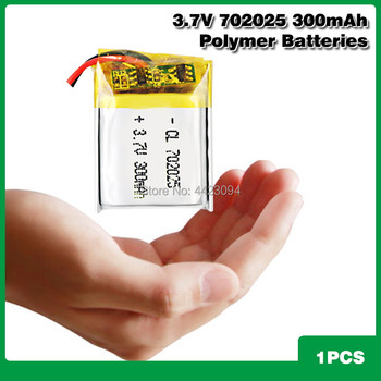 3.7V 300mAh Li-ion Battery 702025 Lithium Polymer Rechargeable Battery for MP3 MP4 bluetooth headset LED light toy lighter image