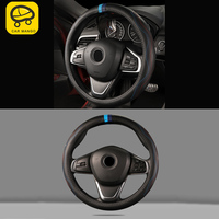 CARMANGO for BMW 3 Series F30 2012 2018 Auto Car Styling Cow Leather Steering Wheel Cover Interior Accessories
