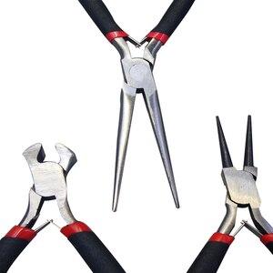 Image 3 - KALAIDUN Mini pense seti sıkma aracı çapraz uzun burun iğne pense tel Stripper kesici mücevher yapımı DIY el aletleri seti