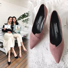 Купить с кэшбэком Freeshipping 2019 Spring And Autumn Square Toe Single Shallow Mouth Soft Bottom Comfortable Beanie Flat Woman Shoes Basic