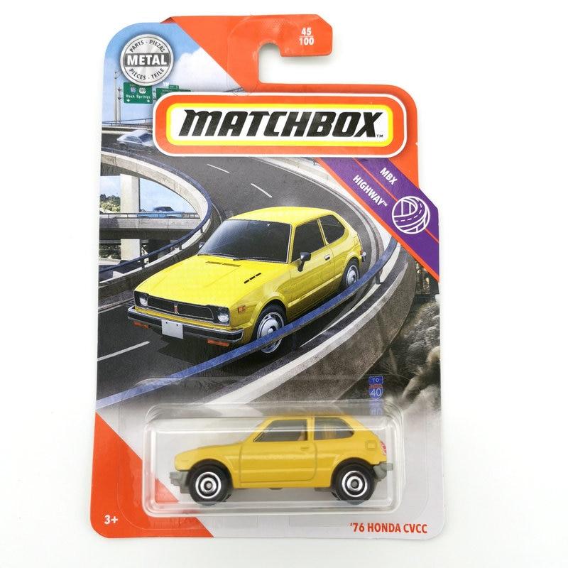 2020 Matchbox Car 1:64 Sports Car 76 HONDA CVCC Metal Material Body Race Car Collection Alloy Car Gift