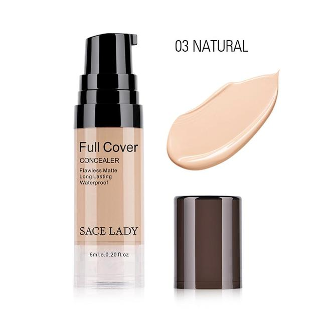 SACE LADY Professional Eye Concealer Makeup Base 6ml Full Cover for Eye Dark Circle Face Liquid Corrector Cream Make Up Cosmetic 2