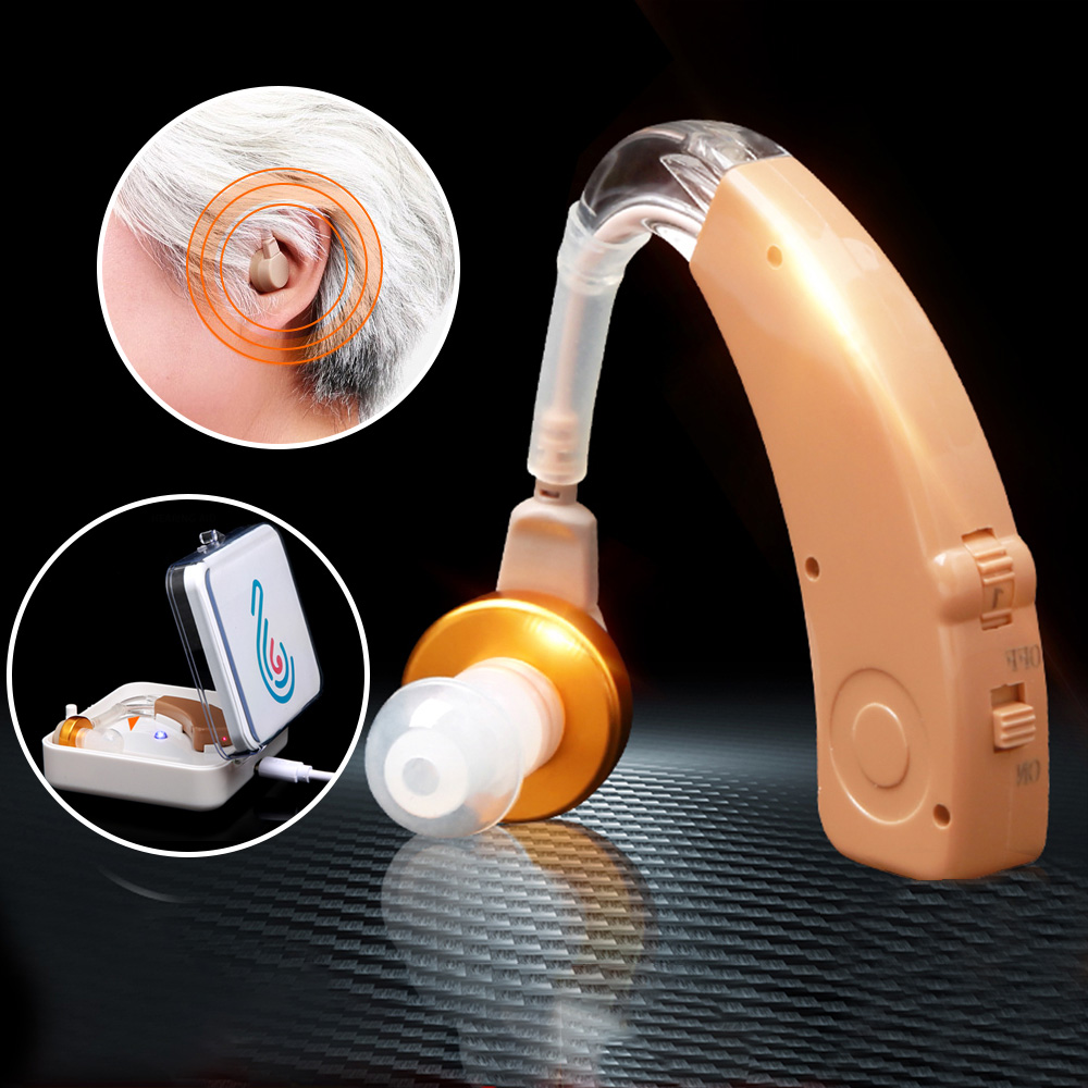 Cofoe Hearing Aid Wireless Charging Hearing Aids Rechargeable Ear Aid BTE Mini Sound Amplifier Earing Aid Ear Care Tools Elderly