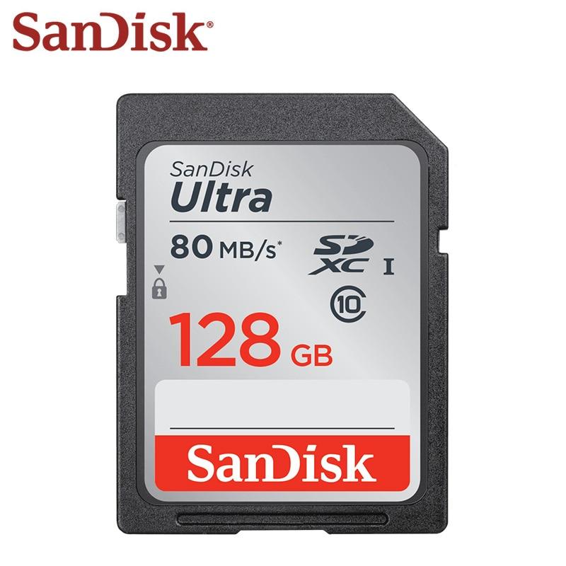 Двойной Флеш-накопитель SanDisk Ultra карты памяти SD 16 Гб оперативной памяти, 32 Гб встроенной памяти, 64 ГБ Камера SD Card 64 Гб карты sd 128 ГБ 256 записки ...