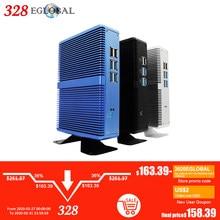 2019 yeni Intel Core i7 i5 7200U i3 7100U fansız Mini PC Windows 10 Pro Barebone bilgisayar DDR4/DDR3 2.4GHz 4K HTPC WiFi HDMI VGA
