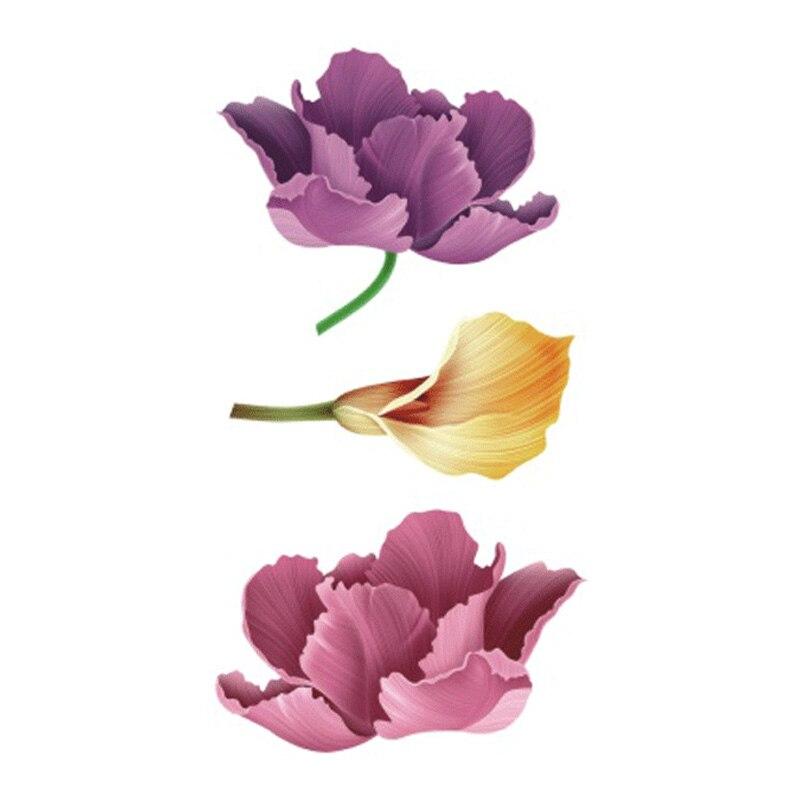 Wyuen Waterproof Temporary Tattoo Stickers For Adults Kids Body Art Fresh Tender Beautiful Flowers P-055 Fake Tatoo For Woman