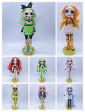 Nova sem poopsie irmã mais velha edição limitada surpresa arco-íris high school moda cabelo boneca bella série 11 Polegada fantoches