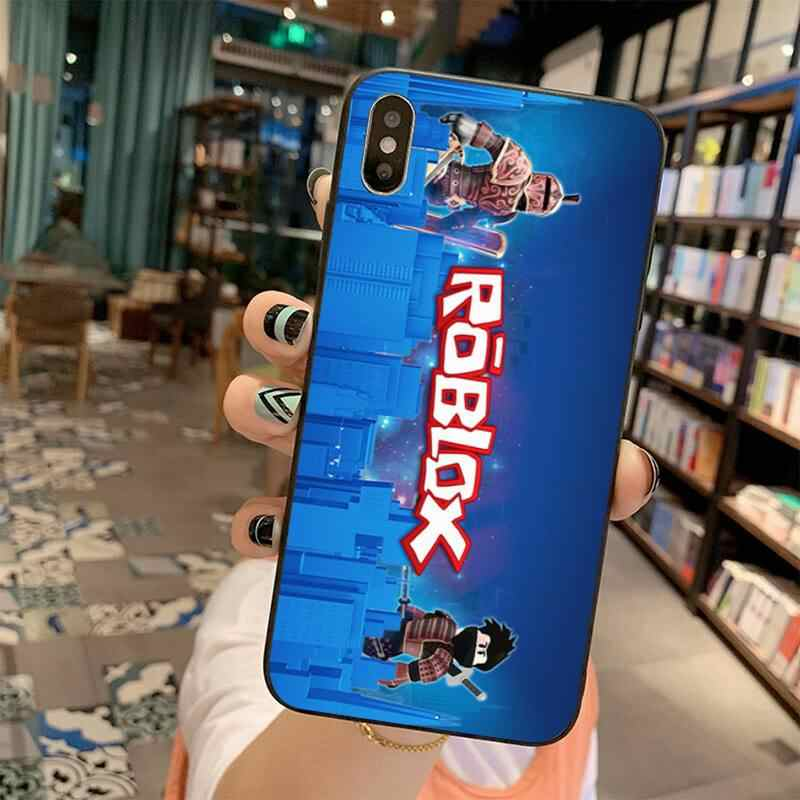 Hpchcjhm Populaire Game Roblox Logo Afdrukken Telefoon Case Cover Shell Voor Iphone 11 Pro Xs Max 8 7 6 6S Plus X 5S Se 2020 Xr Case
