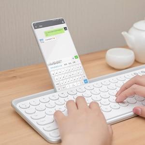 Image 3 - Miiiw Bluetooth Двухрежимная клавиатура 104 клавиши 2,4 ГГц Мультисистема совместимая с Windows PC Mac Беспроводная портативная клавиатура