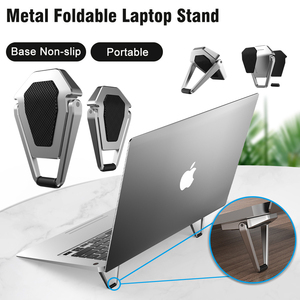 Metal Foldable Laptop Stand Base Non-slip Desktop Portable Notebook Holder Cooling Bracket For Macbook Pro Air DELL Accessories(China)
