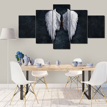Picture wall art canvas painting poster printing 5 panel powerful wing home decoration frame