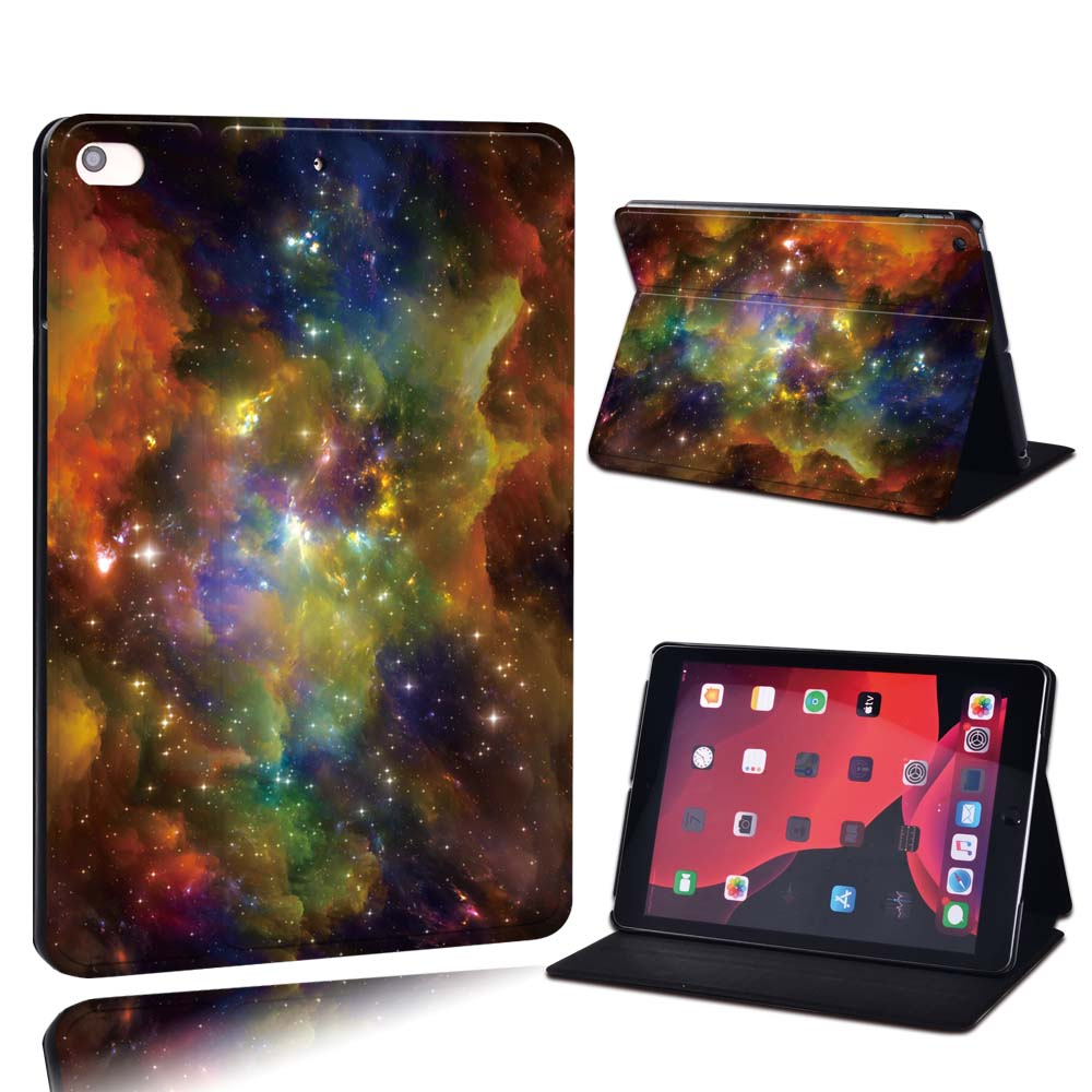 8.colorful starry Gray For Apple iPad 8 10 2 2020 8th 8 Generation A2428 A2429 PU Leather Tablet Stand