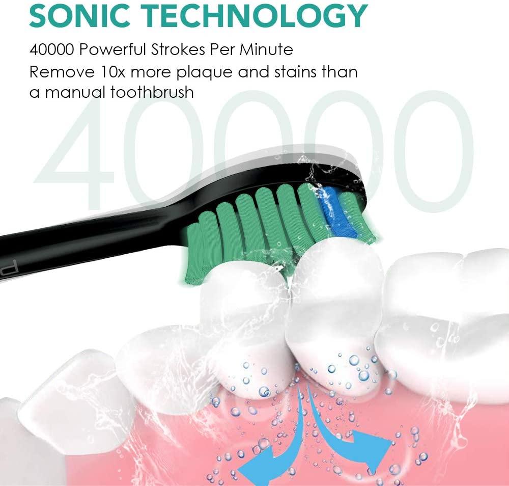 qualidade superior sonic eletrica escovas dentes 04