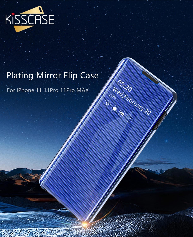 KISSCASE Flip Mirror Pouzdro pro iPhone 11Pro Pouzdro 11 11Pro MAX 8 - Příslušenství a náhradní díly pro mobilní telefony