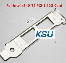 Metade baixa Proflie 8CM 2U Bracket baffle conector suporte Para Processador Intel x540-T2 10G Placa de Rede PCI-E com parafusos