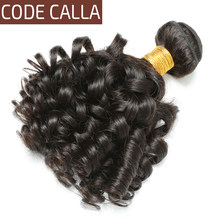 Code Calla Brazilian 100% Unprocessed Raw Virgin Human Hair Extensions Weave Bundles Loose Bouncy Curly For Women Free Shipping(China)