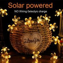 Светодиодная наружная Солнечная лампа гирлянда новогодняя сказочная
