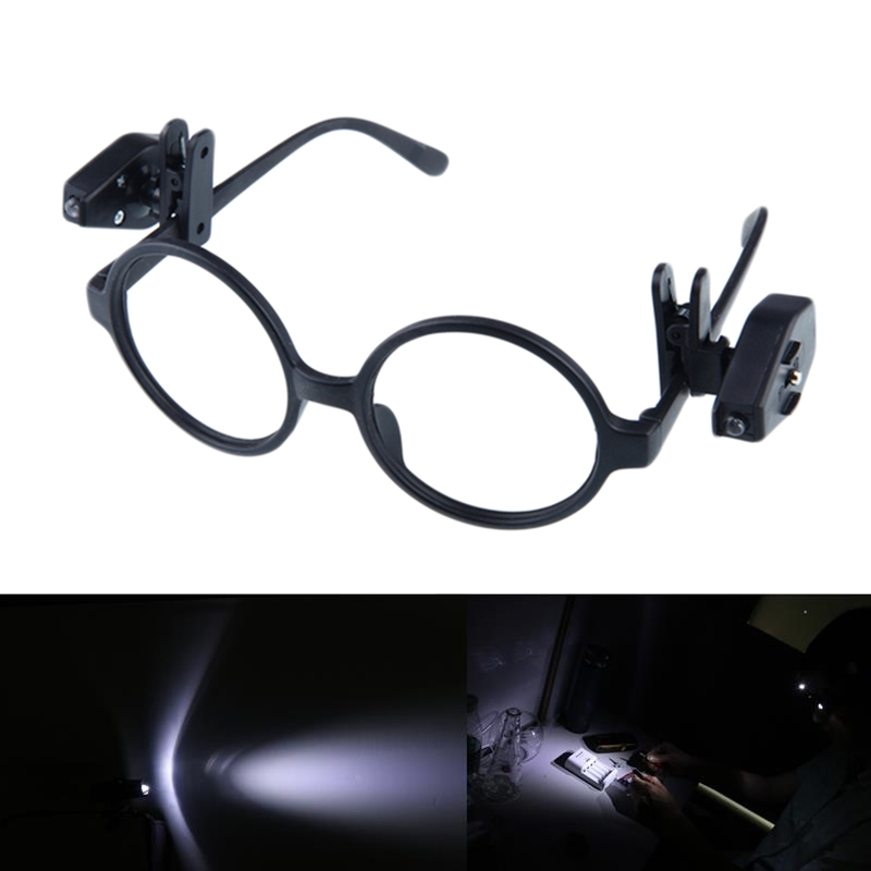 Portable LED Light Glasses Made Of ABS Material For Reading Newspapers And Tool Repair