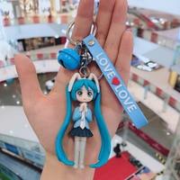 Nette Anime schöne mädchen Keychain Damen Auto Tasche Handy Anhänger Japanischen Cartoon Anime auto armband keychain Ornamente